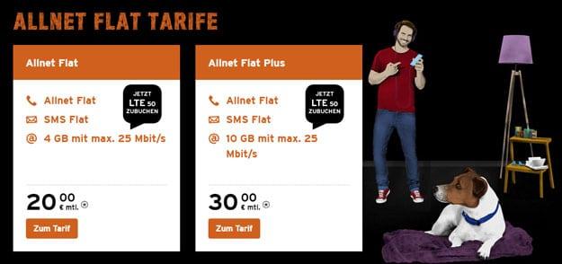 congstar Allnet-Flat Tarife