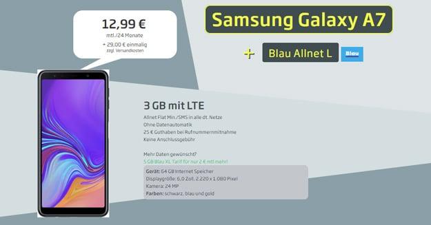 Samsung Galaxy A7 (2018) + Blau Allnet L