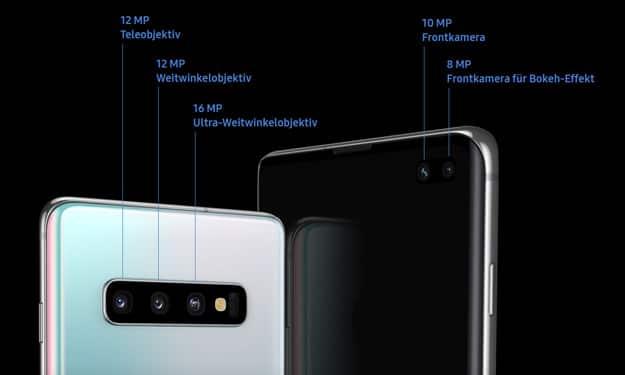 Triple-Kamera beim Samsung Galaxy S10 mit Top-Funktion