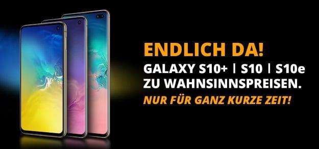 Samsung Galaxy S10 Plus + Vodafone Smart XL bei Sparhandy