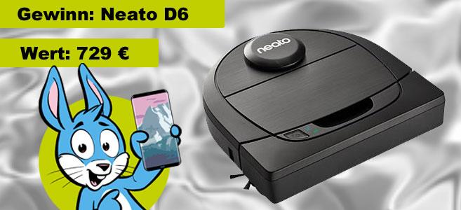 Handyhase Gewinnspiel: Beantworte eine Frage & gewinne im Februar einen Neato Staubsaugerroboter im Wert von 729 €!
