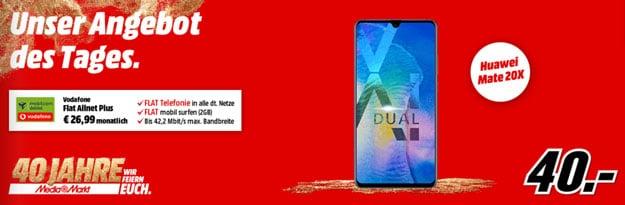 Huawei Mate 20X + Vodafone Flat Allnet Plus (md)