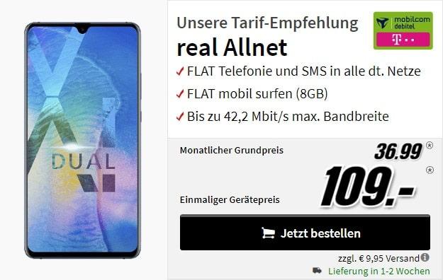 Huawei Mate 20X + mobilcom-debitel real Allnet (Telekom-Netz) bei MediaMarkt