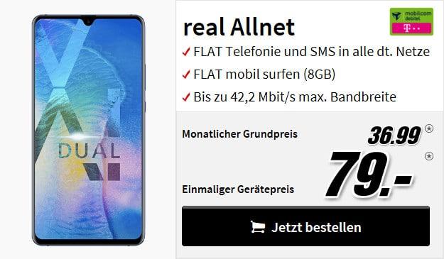 huawei mate 20x + real allnet mobilcom debitel telekom