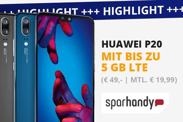 Huawei P20 + Blau Allnet XL
