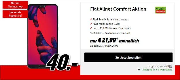 huawei p20 pro + vodafone flat allnet comfort md