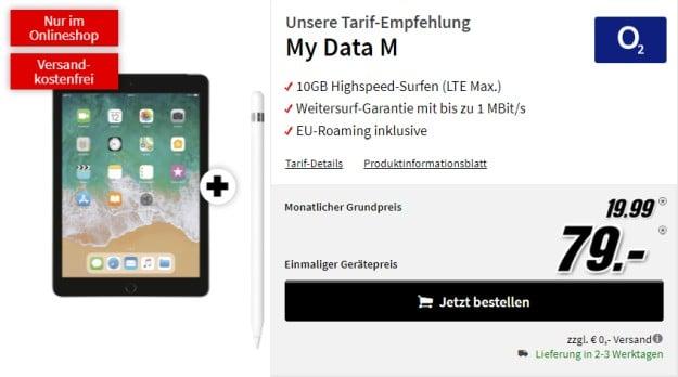 Apple iPad 2018 LTE +Apple Pencil + o2 my Data M