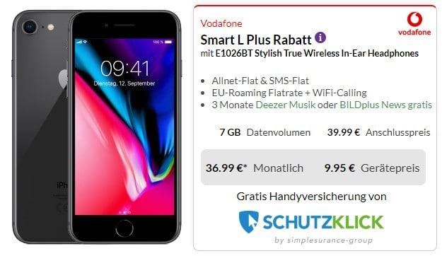 iPhone 8 + 1More Stylish True Wireless + Vodafone Smart L Plus bei Preisboerse24