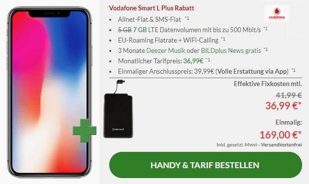 iphone x + powerbank + vodafone smart l plus