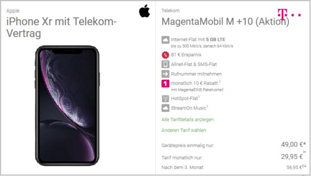 iphone xr magenta mobil m