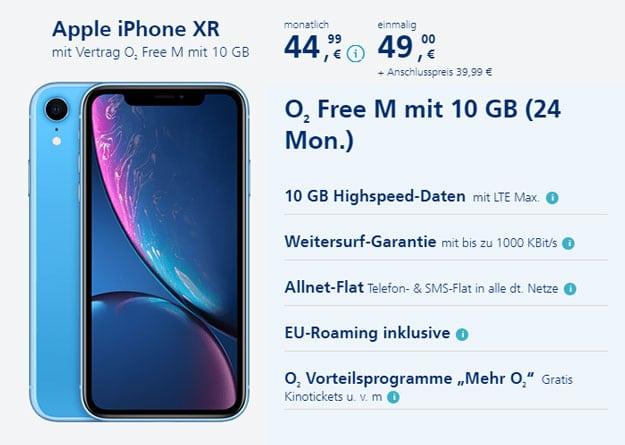 Apple iPhone Xr + o2 Free M bei o2