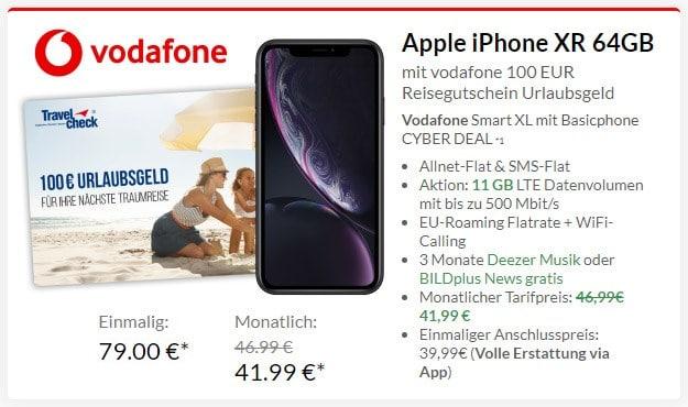 iPhone Xr + Vodafone Smart XL bei Preisboerse24
