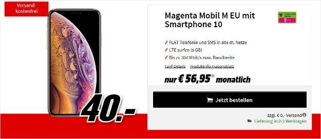 iphone xs + telekom magenta mobil m md