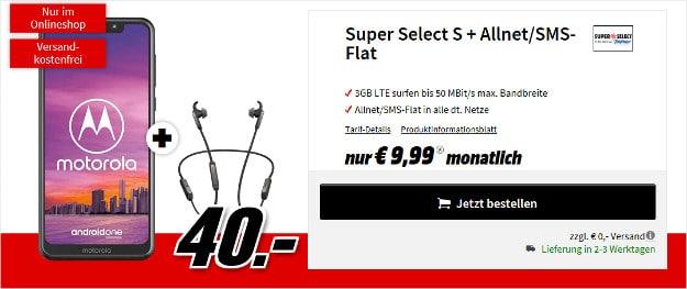 motorola moto one + super select s