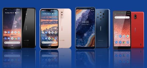 Nokia 9 PureView, Nokia 4.2, Nokia 3.2 und Nokia 1 Plus