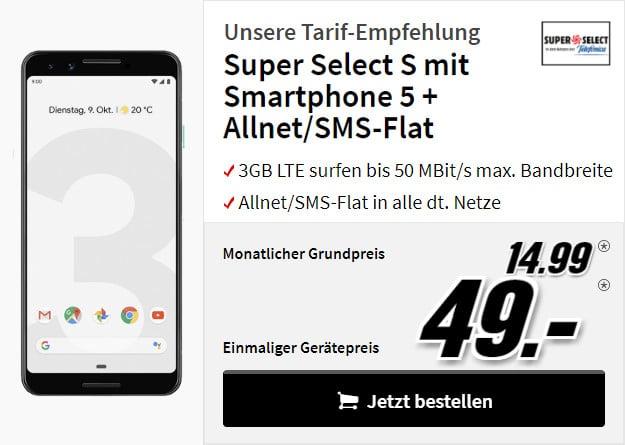 Google pixel 3 + super select s