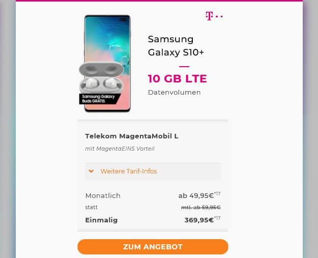 s10 plus + telekom magenta mobil l