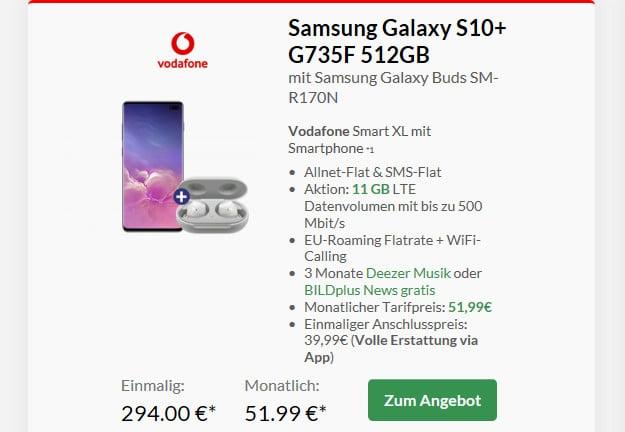 s10 plus + vodafone smart xl