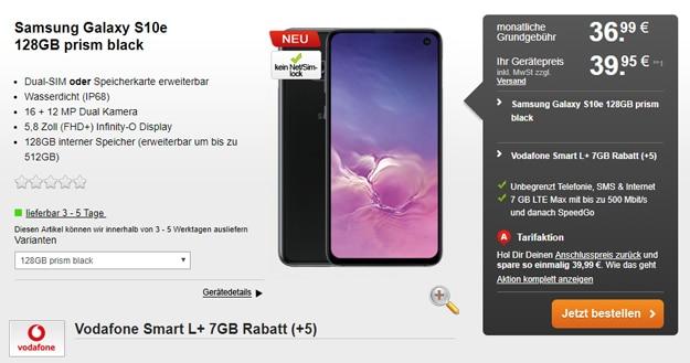 Samsung Galaxy S10e + Vodafone Smart L Plus