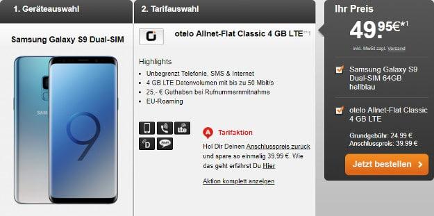 s9 + otelo allnet flat classic lte