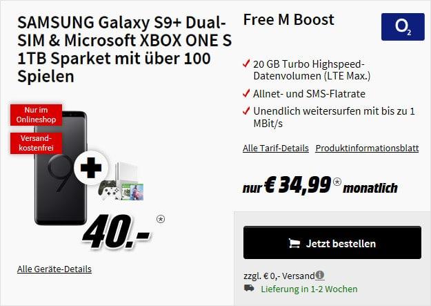 s9 plus + xbox sparket + o2 free m boost