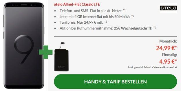 s9 + powerbank + otelo classic lte