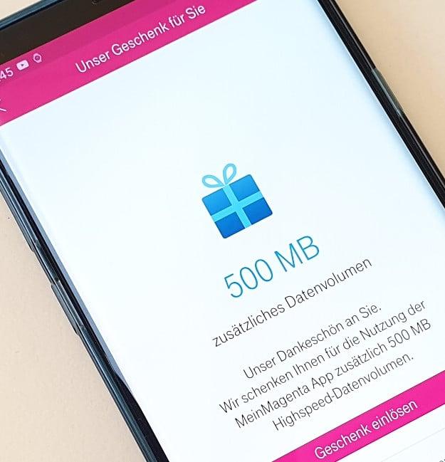 Telekom Gratis 500 Mb Datenvolumen Meinmagenta App Aktion