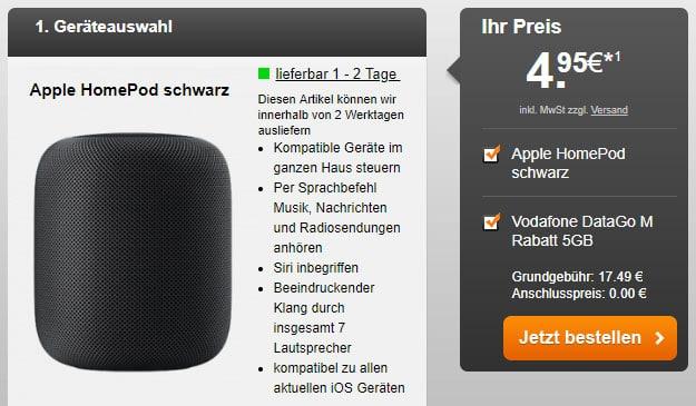 Vodafone DataGo M + Apple HomePod bei Handyflash