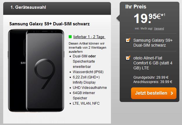 Galaxy S9 Plus + otelo Allnet-Flat Comfort LTE