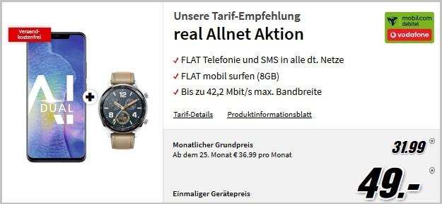 Huawei Mate 20 Pro + Watch GT + Vodafone real Allnet