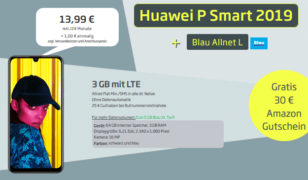 Huawei P Smart (2019) + Blau Allnet L