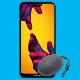 Huawei P20 Lite + Blau Allnet XL mit Speaker Logo