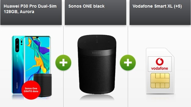 Huawei P30 Pro + Vodafone Smart XL