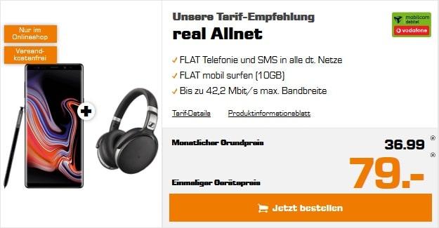 Samsung Galaxy Note 9 + Vodafone real Allnet (mobilcom-debitel)