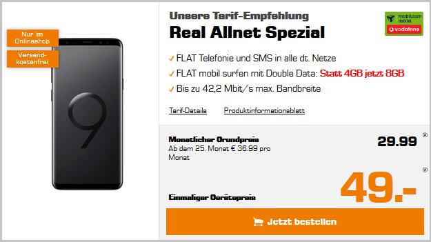 Samsung Galaxy S9 Plus + Vodafone real Allnet (md)