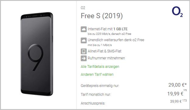 Samsung Galaxy S9 + o2 Free S