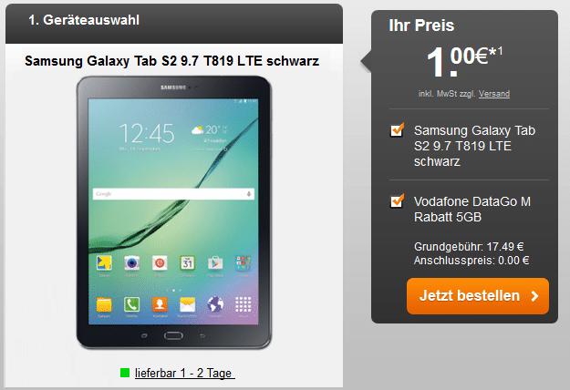 Samsung Galaxy Tab S2 LTE + Vodafone DataGo M