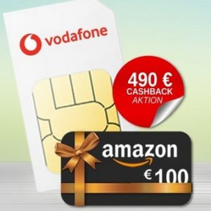 Vodafone Smart XL SIM-only 490 Cashback