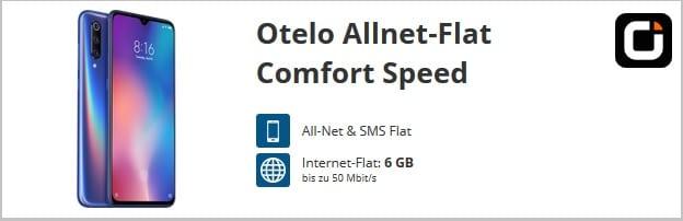 Xiaomi Mi 9 + otelo Allnet-Flat Comfort