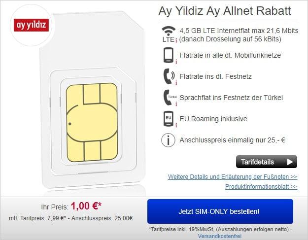 Ay Yildiz Ay Allnet Flat bei Handydealer24