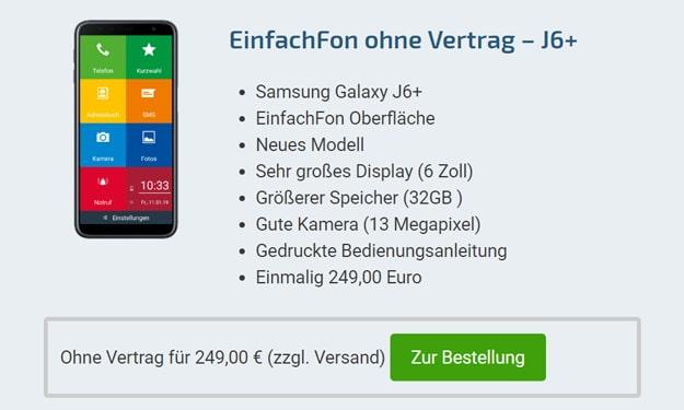 Einschätzung der Deals mit dem Galaxy J6 Plus ohne & mit Vertrag