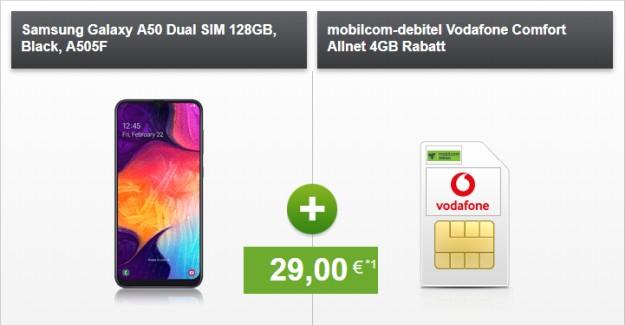 Samsung Galaxy A50 + Vodafone Comfort Allnet (mobilcom-debitel) bei modeo