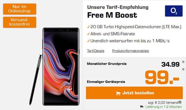 Samsung Galaxy Note 9 + o2 Free M Boost bei Saturn