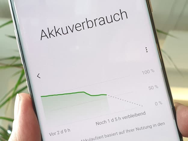Samsung Galaxy S10 Akku Test
