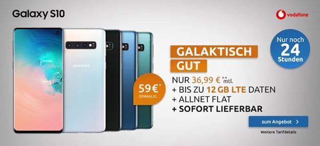 Samsung Galaxy S10 + Vodafone Smart L Plus bei LogiTel