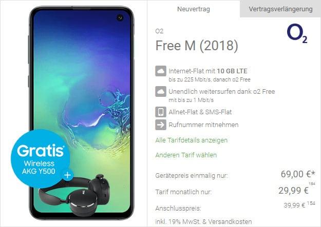Samsung Galaxy S10e + o2 Free M bei DeinHandy
