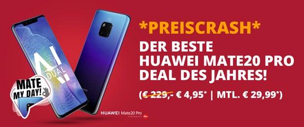Huawei Mate 20 Pro + o2 Free M bei Sparhandy