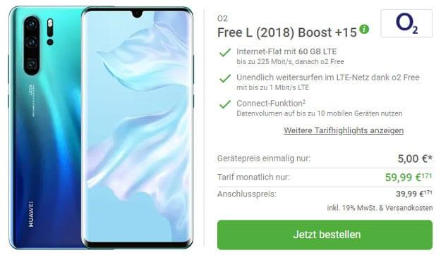Huawei P30 Pro + o2 Free L Boost bei DeinHandy