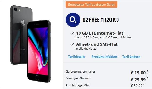 iPhone 8 + o2 Free M