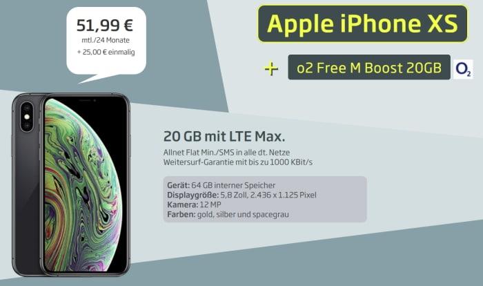 Apple iPhone XS + o2 Free M Boost